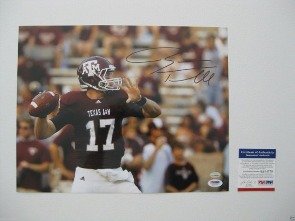 Ryan Tannehill Autographed Signed /Autographed Texas A&M Aggies 11X14 Photo - PSA - Dolphins