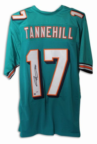 Ryan Tannehill Miami Dolphins Autographed Signed Teal Jersey