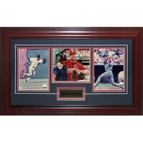 Sammy Sosa And Mark McGwire Autographed Signed 1998 Home Run Chase Deluxe Framed Piece - JSA