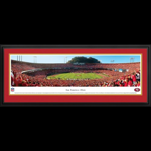 San Francisco 49ers (50 Yard Line) Deluxe Framed Stadium Panoramic