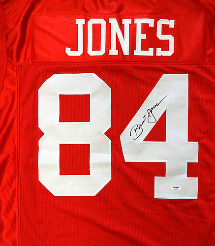 1739530f7 San Francisco 49ers Brent Jones Autographed Signed Red Jersey - PSA DNA  Certified