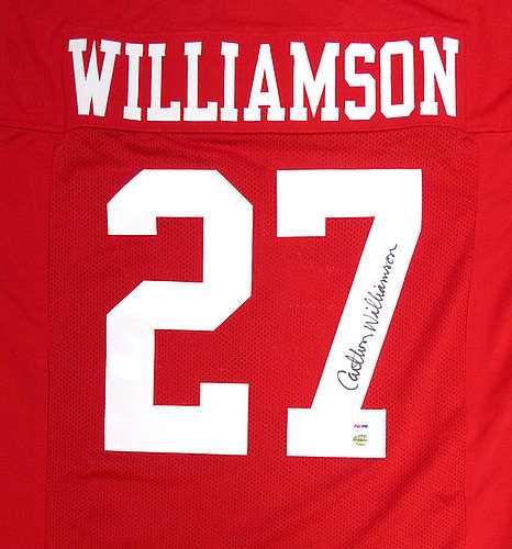 4a74374b3 San Francisco 49ers Carlton Williamson Autographed Signed Red Jersey -  PSA DNA Certified