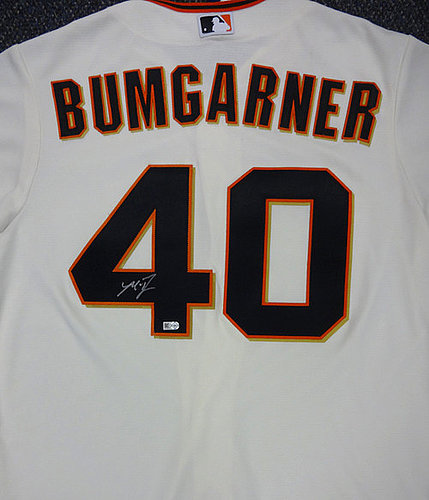 efa3a8b8a new zealand san francisco giants madison bumgarner autographed signed cream  majestic cool base jersey size l