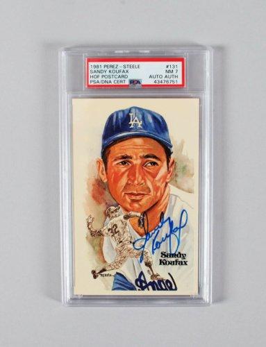 Sandy Koufax Autographed Signed 1981 Perez-Steele Graded HOF Postcard - COA PSA/DNA