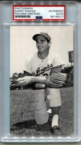 Sandy Koufax Autographed Signed Auto L.A. Dodgers Mccarthy Postcard Photo Circa 1963 PSA/DNA
