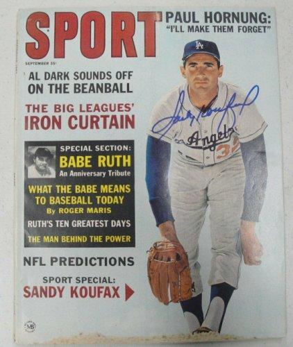 Sandy Koufax Autographed Signed Hand Autographed Complete Sport Magazine Dodgers JSA