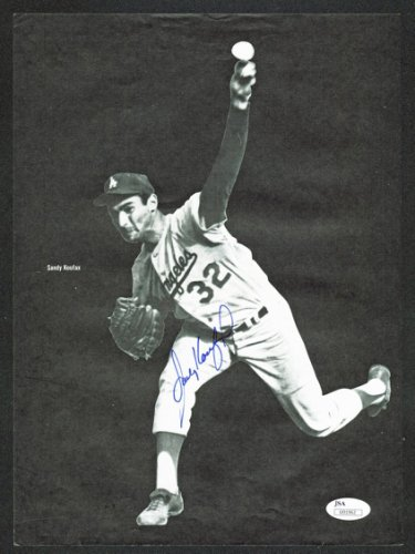 Sandy Koufax Autographed Signed & Willie Mays Authentic 8.75X12 Magazine Page JSA