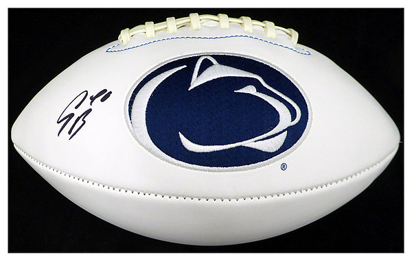 Saquon Barkley Autographed Signed Penn State Nittany Lions White Logo  Football - Beckett Authentic 986306ed8