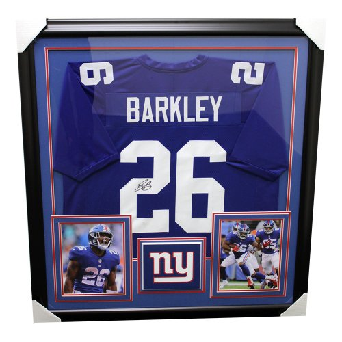 6a31b5ec234 Saquon Barkley New York Giants Framed Autographed Signed Custom Jersey - JSA  Certified Authentic