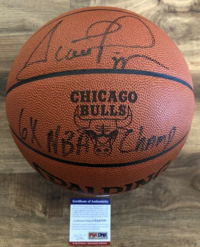 Scottie Pippen Autographed Signed 6X NBA Champ! Official NBA Game Basketball PSA/DNA COA