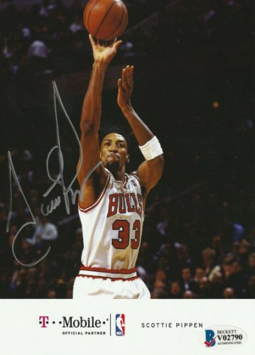 Scottie Pippen Autographed Signed Chicago Bulls 5X7 Photo With Beckett COA