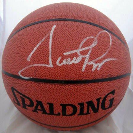 Scottie Pippen Autographed Signed Spalding Indoor/Outdoor Basketball JSA
