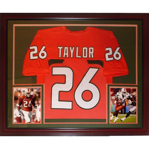 Sean Taylor Unsigned Miami Hurricanes (Orange #26) Deluxe Framed Jersey Tribute