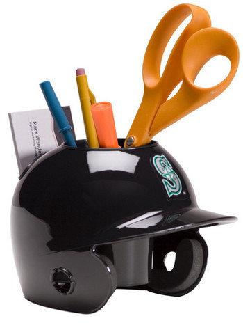 Seattle Mariners MLB Baseball Schutt Mini Batting Helmet Desk Caddy
