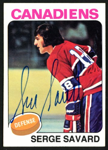 Serge Savard Autographed Signed Memorabilia 1975 -76 Topps Card #144 Montreal Canadiens 149956 - Certified Authentic