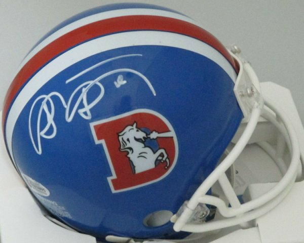 Shannon Sharpe Autographed Signed Broncos Riddell Retro Mini Helmet Auto - HOF - Beckett