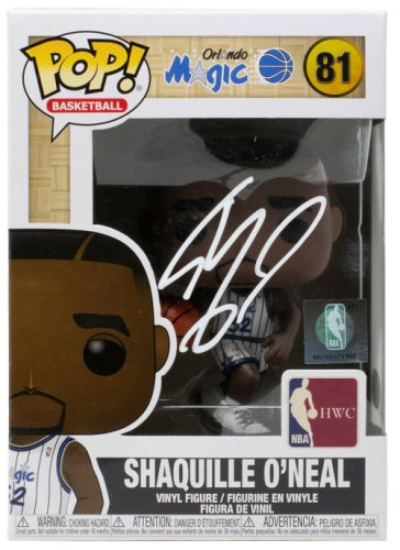 Shaquille O'neal Autographed Signed Orlando Magic Funko Pop Beckett Itp