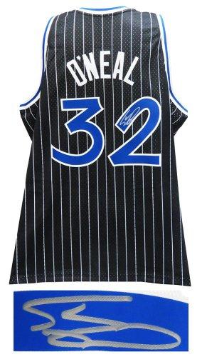 Shaquille O'Neal Autographed Signed Orlando Magic Mitchell & Ness Black NBA Swingman Basketball Jersey