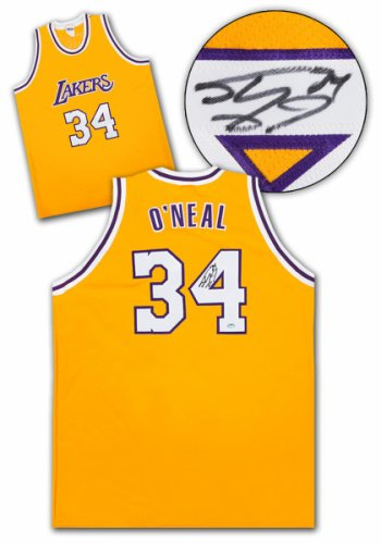 08eb3709f02 Shaquille O'Neal Los Angeles Lakers Autographed Signed Custom Basketball  Jersey: SS COA -