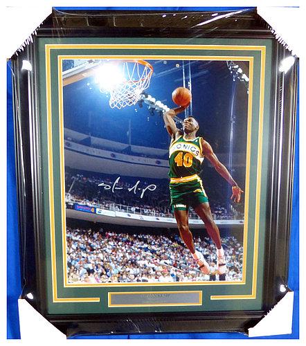 fc68d40191fa6 Shawn Kemp Autographed Signed Framed 16x20 Photo Seattle Sonics ...