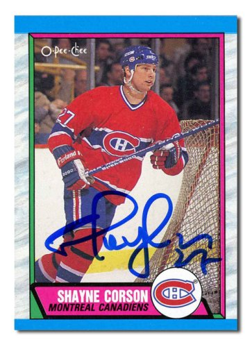 Shayne Corson Autographed Signed 1989 O-Pee-Chee Rookie Card - Montreal Canadiens
