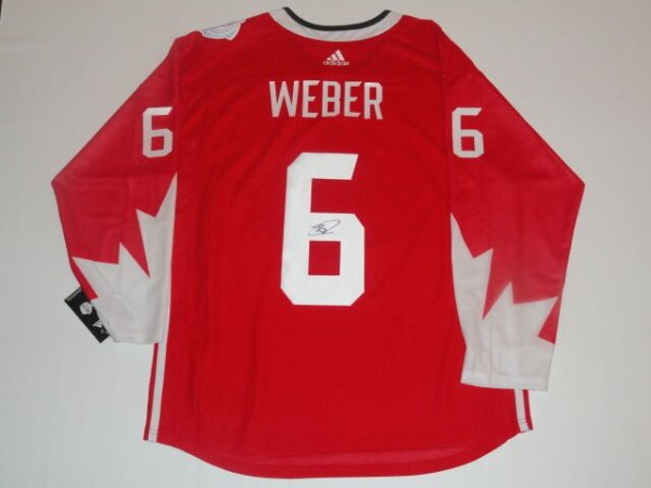 Shea Weber Autographed Signed 2016 Team Canada World Cup Of Hockey Jersey JSA COA Canadiens