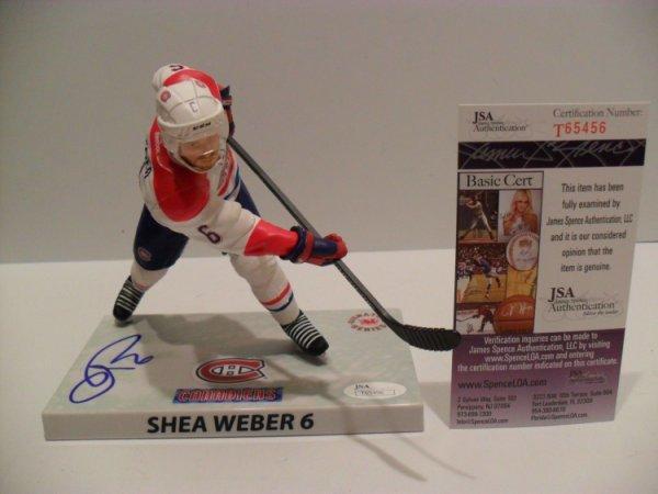 Shea Weber Autographed Signed Autographed Montreal Canadien Imports Dragon Mcfarlane JSA COA