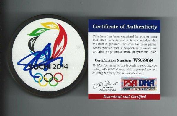 Shea Weber Autographed Signed Sochi 2014 Olympics Canada Puck Predators PSA/DNA