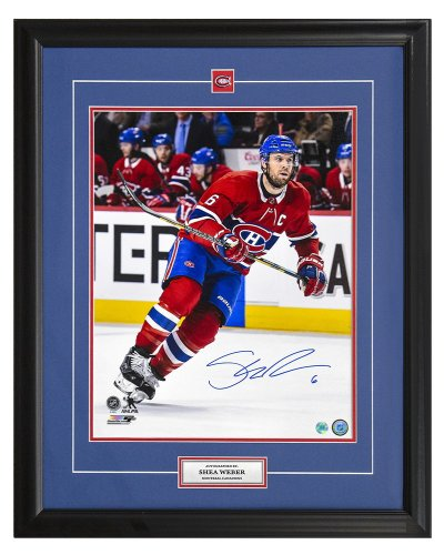 Shea Weber Montreal Canadiens Autographed Signed Hockey Captain 25x31 Frame