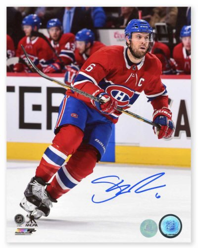 Shea Weber Montreal Canadiens Autographed Signed Hockey Captain 8x10 Photo