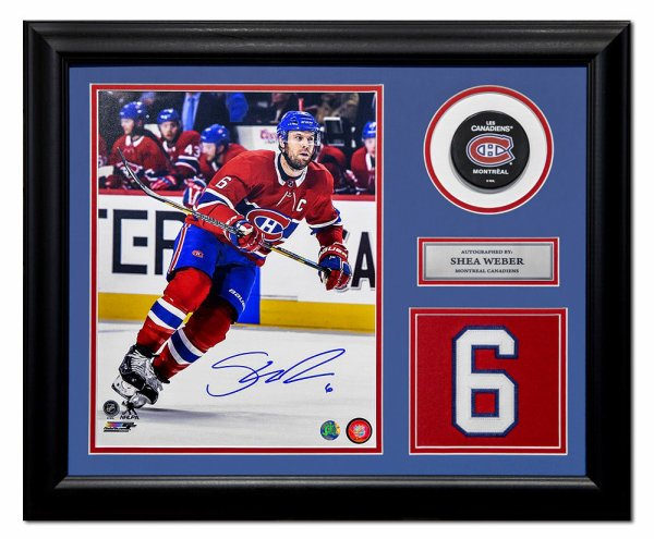 Shea Weber Montreal Canadiens Autographed Signed Jersey Number 23x19 Frame