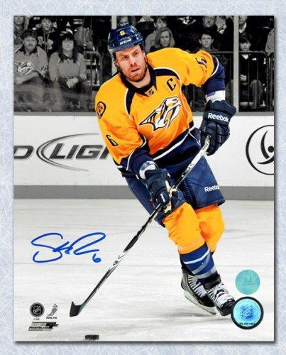 Shea Weber Nashville Predators Autographed Signed Mustard Spotlight Autographed Signed 11x14 Photo