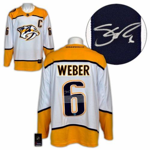 Shea Weber Nashville Predators Autographed Signed White Fanatics Replica Hockey Jersey