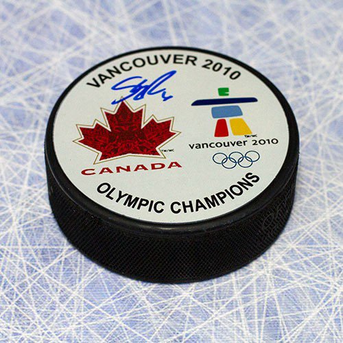 Shea Weber Team Canada 2010 Olympic Gold Autographed Signed Hockey Puck