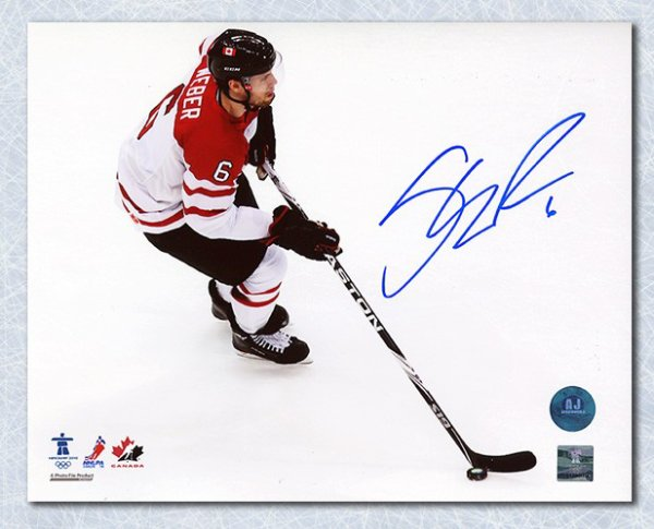 Shea Weber Team Canada Autographed Signed 2010 Olympic Hockey Action 8x10 Photo