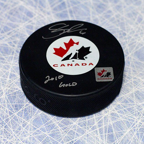 Shea Weber Team Canada Autographed Signed Olympic Hockey Puck w/ 2010 Gold Note