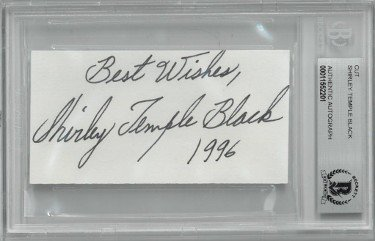 Shirley Temple Black Autographed Signed Cut Signature w/ Best Wishes 1996- BAS/Beckett #00011552201