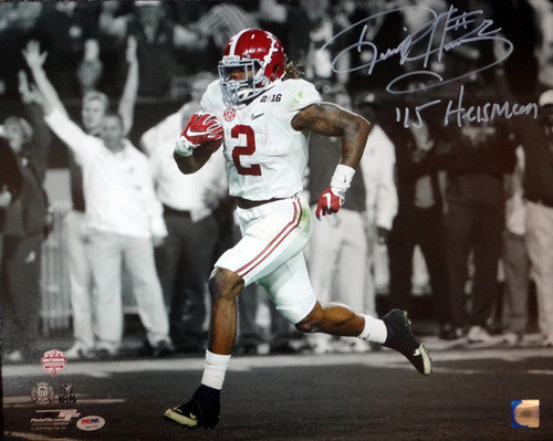 Signed Derrick Henry Autographed 16x20 Photo Alabama Crimson Tide 15 Heisman - PSA/DNA Certified