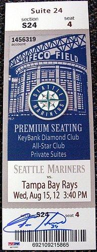 Signed Felix Hernandez Autographed Mini Mega Ticket Seattle Mariners - PSA/DNA Certified