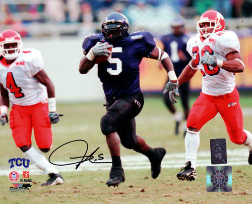 Signed LaDainian Tomlinson Autographed 8x10 Photo TCU Horned Frogs LT Holo Stock #76104