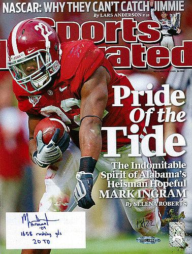 Signed Mark Ingram Autographed Sports Illustrated Magazine Alabama Crimson Tide Heisman '09 1658 Rushing Yds 20 TD #/22 UDA Stock #74260