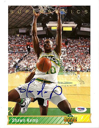 c09629fa3a907 Signed Shawn Kemp Autographed Upper Deck 8x10 Jumbo Card Seattle ...