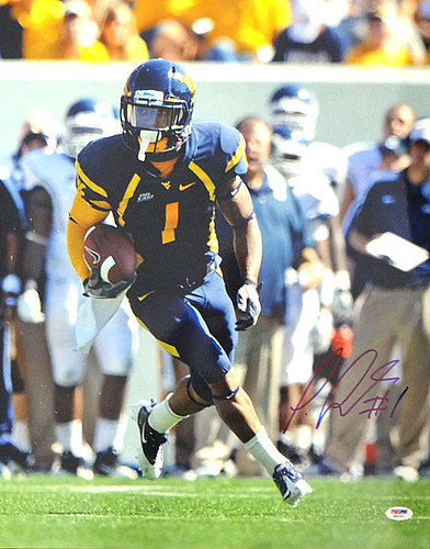 Signed Tavon Austin Autographed 16x20 Photo West Viginia Maountaineers - PSA/DNA Certified