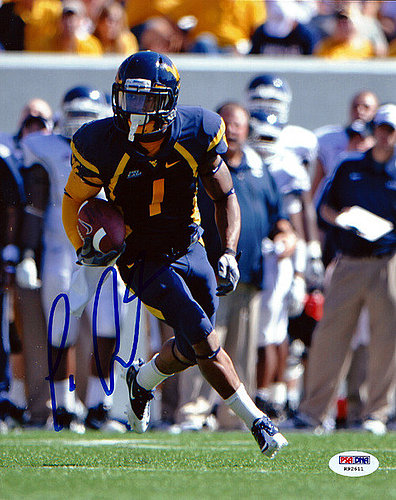 Signed Tavon Austin Autographed 8x10 Photo West Virginia Mountaineers - PSA/DNA Certified
