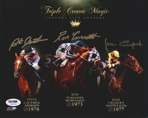 Steve Cauthen Signed Autographed 8x10 Photo Triple Crown Kentucky Derby Winner