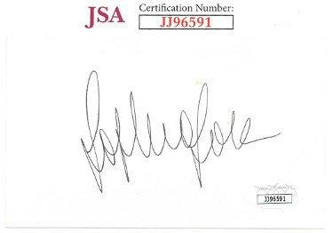 Sophia Loren Autographed Signed 3x5 Index Card- JSA #JJ96591