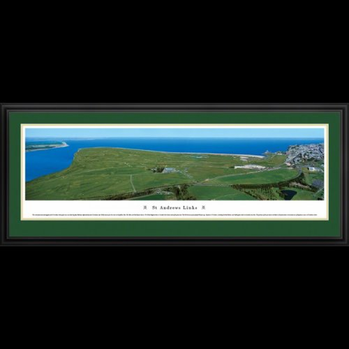 St. Andrews Links Golf Course (Aerial) Deluxe Framed Panoramic