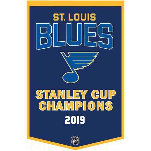 St Louis Blues Stanley Cup Championship Dynasty Banner - with hanging rod