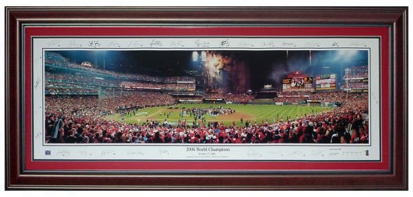 St. Louis Cardinals (2006 World Champions) Deluxe Framed Panoramic Photo