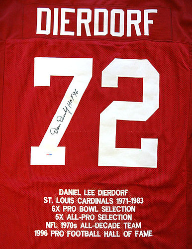 52f05215c St. Louis Cardinals Dan Dierdorf Autographed Signed Red Jersey HOF 96 -  PSA/DNA